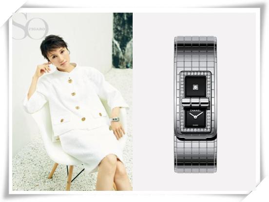 袁泉登《SoFigaro》杂志封面 佩戴香奈儿CODE COCO腕表 显独特气质