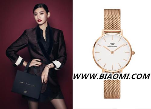 适合年轻人的品牌 奚梦瑶为DW腕表拍摄全新假日系列广告  热点动态 第2张
