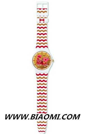 鸿运当头腕表红——王俊凯佩戴Swatch生肖特别款腕表优雅上线 名表赏析 第3张