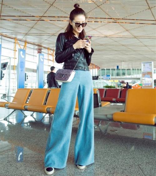 喜欢豆豆包豆豆鞋阔腿裤的刘诗诗还喜欢这样的腕表 热点动态 第1张