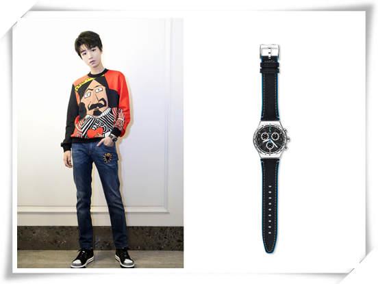 低调处女座的王俊凯是这样演绎Swatch腕表的