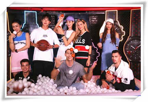 NBA5V5专场潮流派对 捕捉天梭品牌挚友张铭恩的投篮瞬间