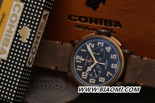 真力时携手Cohiba重磅推出Pilot Type 20特别款腕表 名表赏析 第5张
