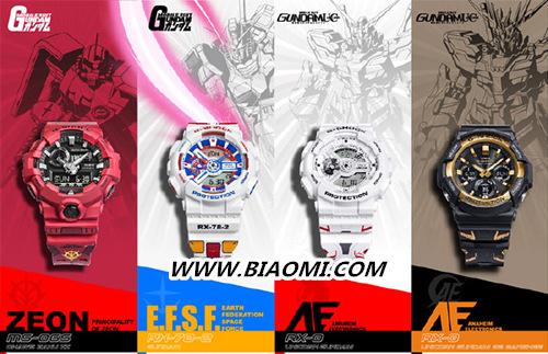 卡西欧与万代合作推出 G-Shock 高达 40 周年特别款 热点动态 第1张