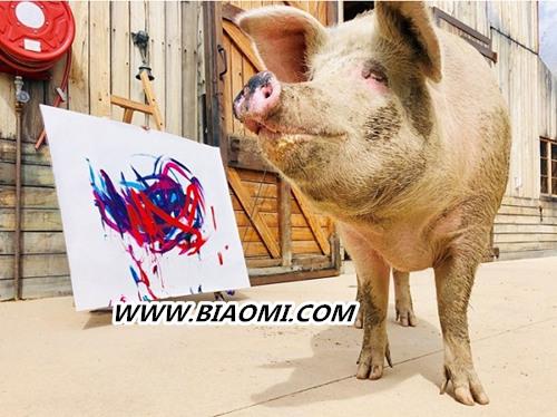 猪界毕加索的跨界之作?一头猪的能量竟如此强大 名表赏析 第1张