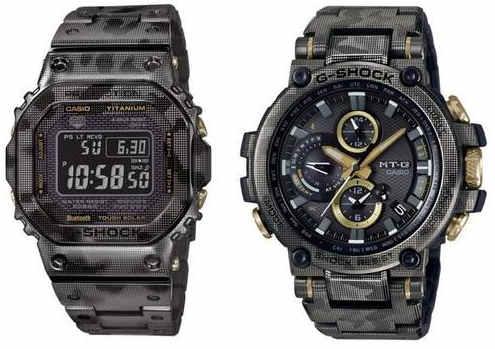 卡西欧G-shock推出迷彩钛合金 1万人民币的电子表?