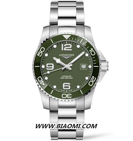 浪琴推出全新康卡斯系列腕表  绿色潜水表你觉得如何? 名表赏析 第2张