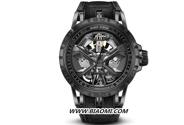 Roger Dubuis罗杰杜彼 全黑Excalibur Huracán腕表时尚出击 Excalibur Huracán 罗杰杜彼 Roger Dubuis 名表赏析  第2张