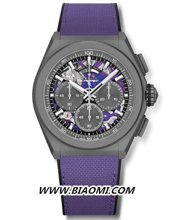 甄选活力色彩 开启全新篇章 ZENITH 真力时推出品牌首款紫色计时机芯限量腕表 DEFY 21 ULTRAVIOLET 热点动态 第2张