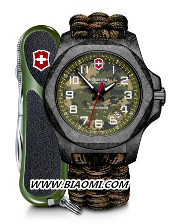 迷彩I.N.O.X. 碳纤维限量版腕表,霸气登场 维氏 Victorinox 名表赏析  第2张