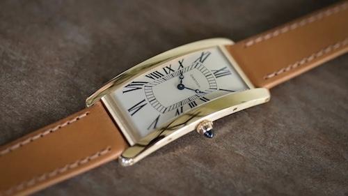 卡地亚悄悄发布一枚新品——Tank Cintrée100周年限量腕表
